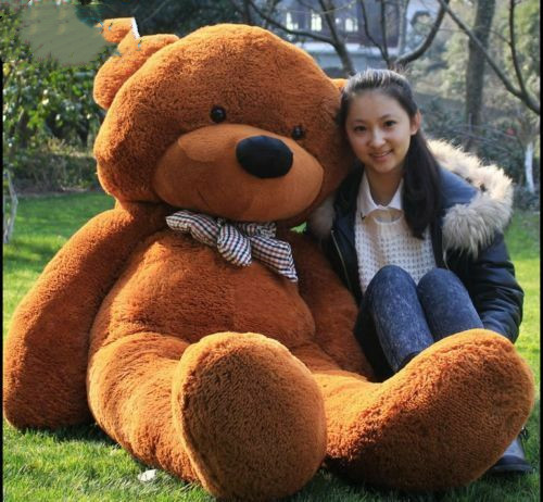 Giant 63'' Big Brown Teddy Bear Huge Stuffed Animals Plush Soft Toys Doll Gift Stuffed Animals  Cute Plush  Toys for Children