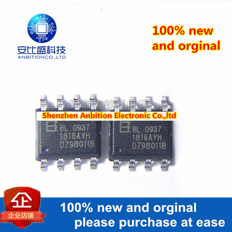 10pcs 100% New And Orginal BL0937 SOP8 Internal Clock Single Phase Socket Meter Measuring Chip Built-in Oscillator Active Intock