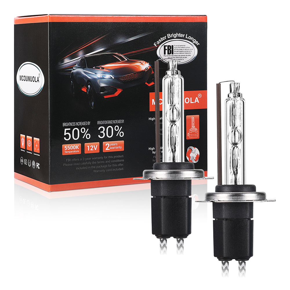 55W H1 Xenon HID Conversion Kit Slim Ballast Headlight Bulbs Pair Fits Volvo