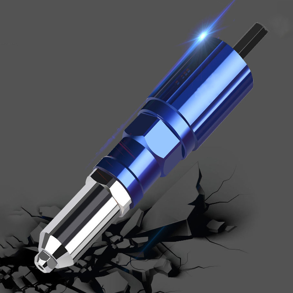 Remache el/éctrico 2.4 mm-4.8 mm remache accesorio tuerca pistola remachadora herramienta taladro adaptador Kit Insertar mano Power accesorios