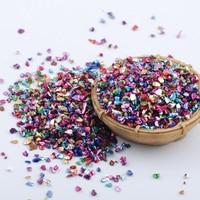 450Gram 3D Broken Glass Nail Jewelry Fashion Charm Nail Stones Small Gravel Glitter Rhinestone For DIY Nail Art Decorations