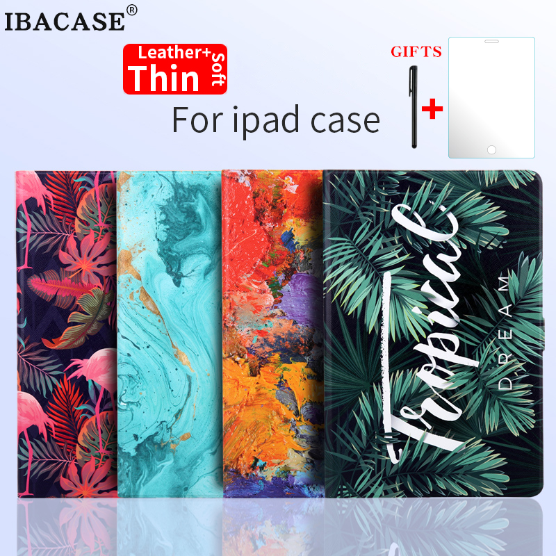 Smart case for ipad air mini tablet cover Stand Leather soft Case for iPad 9.7 2017 2018 5th 6th Generation Auto Sleep