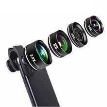 High-End 4 in 1 Phone Camera Lens Kit Fisheye Wide Angle Mac