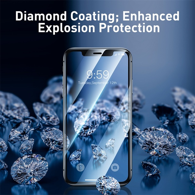 Baseus iPhone 11 Pro Max 0.23mm Tempered Glass Full Screen Guard Protector