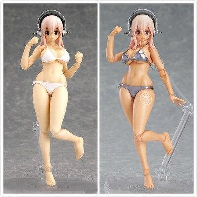 Anime Figma SP-051 EX-023 Super Sonico PVC Action Figure Super Sonico Beauty Model Sexy Doll Toys