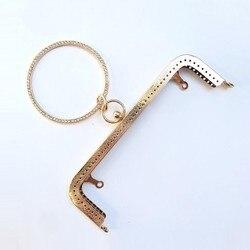 Accesorios de bolsa la parte importante de la bolsa círculo parte de marco de Metal cerradura para bolsas accesorios de Metal bisagra de bolso 20cm diamante cuadrado