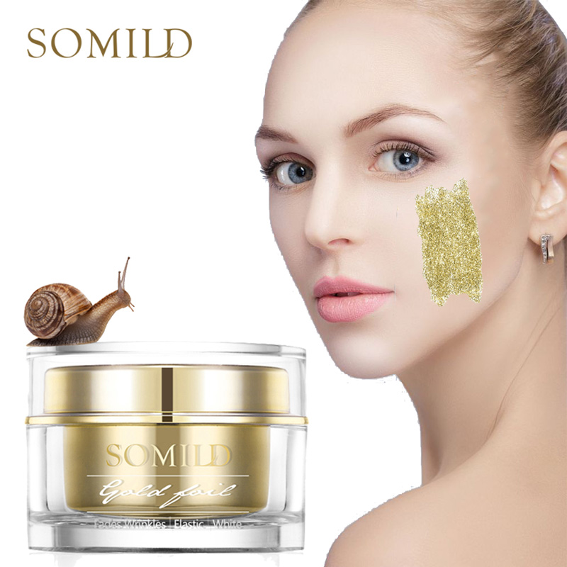 24k Gold Essence Snail Cream Anti Aging Anti Wrinkle Face Cream Repair Firming Skin Hyaluronic Acid Moisturizing Whitening Cream