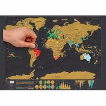 Deluxe borrar Edición de viaje Negro rascar el mapa del mundo póster personalizado diario habitación decoración del hogar pegatinas de pared 2020