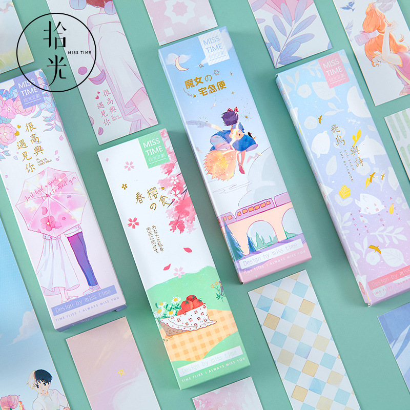30 Pcs/1 Lot Nice To Meet You Paper Bookmarks Bookmarks For Books/Share/book Markers/tab For Books/stationery