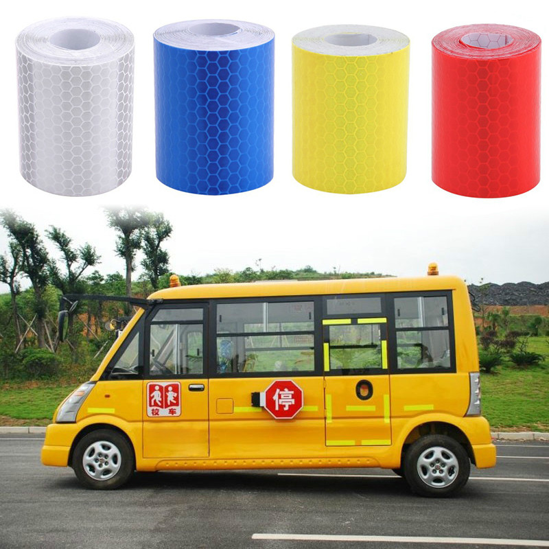 Car Reflective Strip Stickers Road Warning Strip-style Decoration Film Safe Motorcycle Baby Car Reflect Road Safety Tape 100x5cm