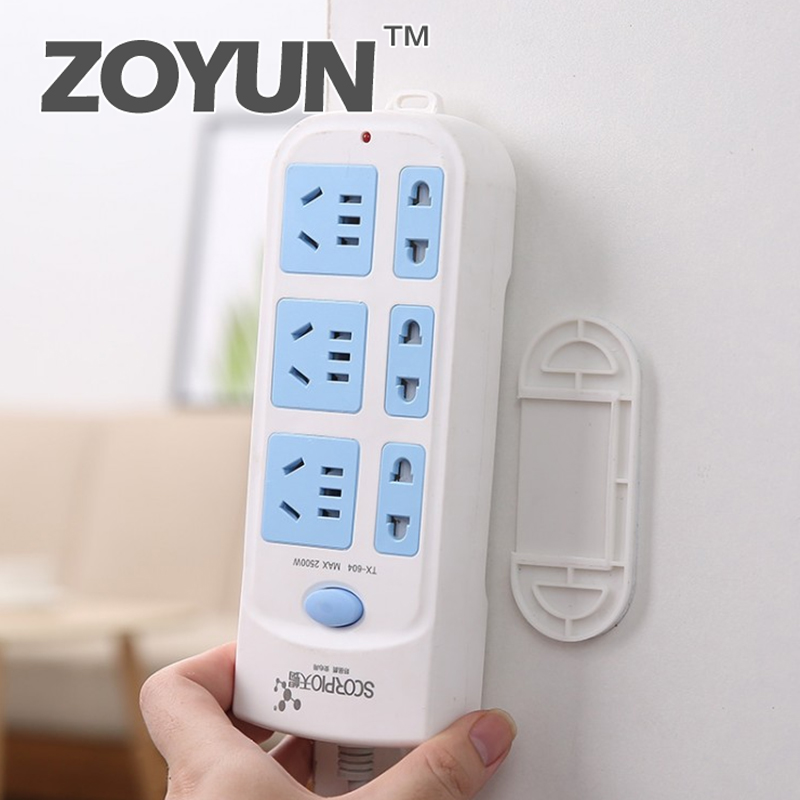 ZOYUN Double-sided Sticker Holder Row Plug Fixed Wall Stickers Strong Punch-free Adhesive Patch Hook Line Management Artifact