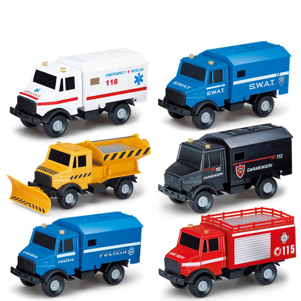 None Children Boys Alloy Transport Vehicle Truck Ambulance Car Model High Simulated Model Toy