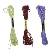 100 мотков цветная нить для вышивки хлопок крест иглы Ремесло швейная нить набор