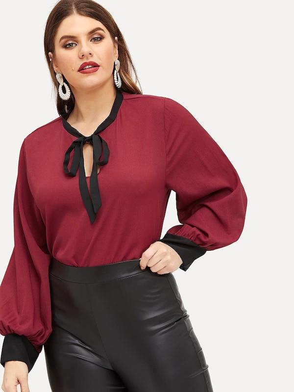 Plus Size XXXXL 5xl 2019 Summer New Casual Female Blouse Women Tops Loose Bow Chiffon Long Sleeve Shirts