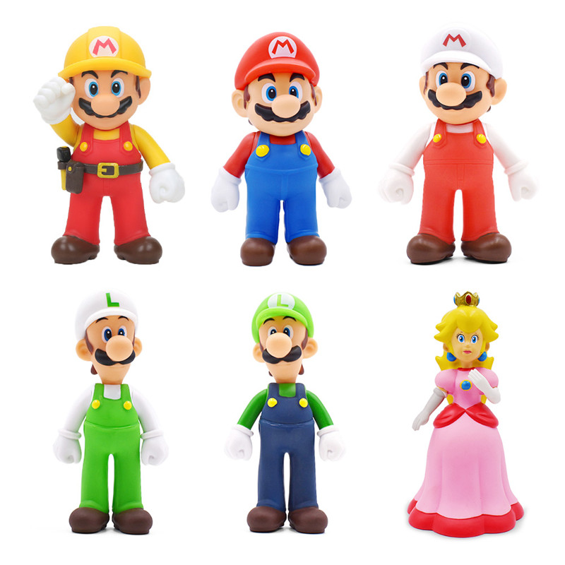 New Super Mario Bros Action Figures Pvc Game Characters Mushroom