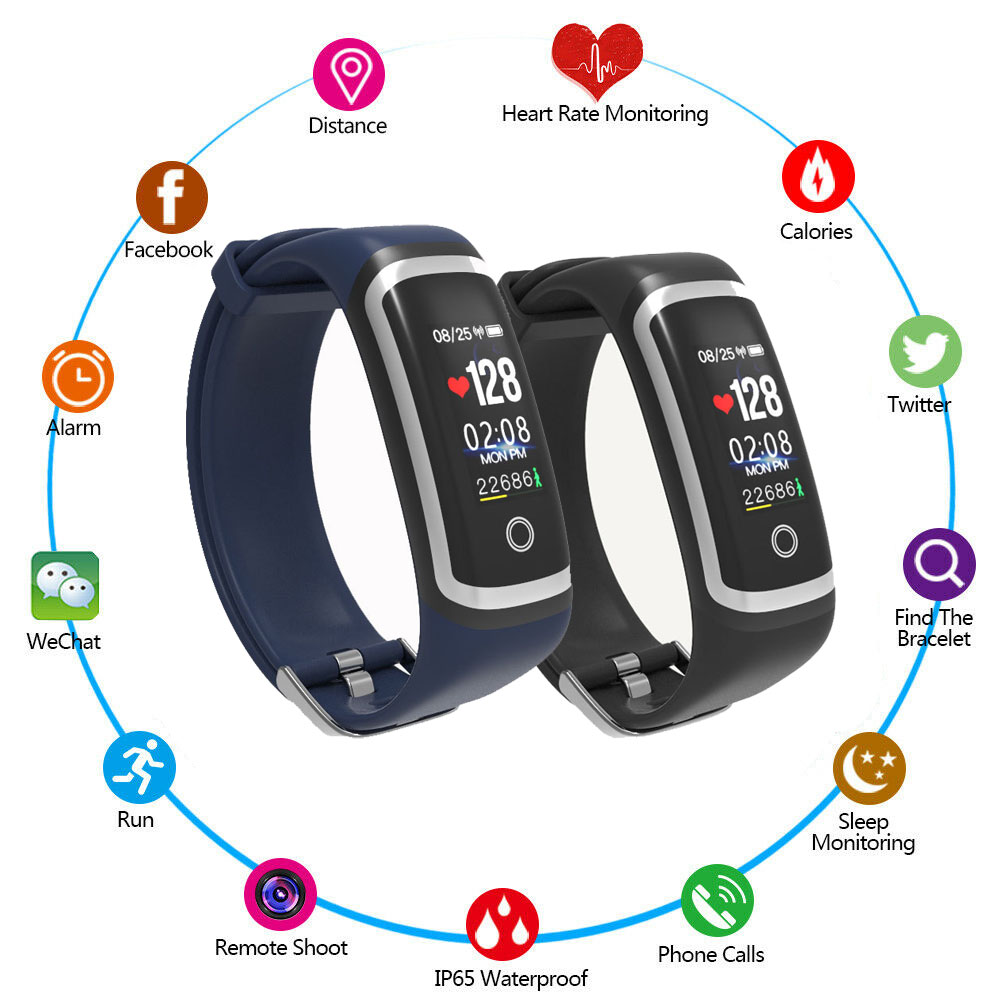 Fitness-Tracker Sleep-Monitor Monitorblood-Pressure-Watch Smart-Bracelet Color-Screen