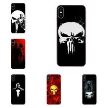 The Punisher Skull TPU Fashion Case Cover For Huawei Nova 2 V20 Y3II Y5 Y5II Y6 Y6II Y7 Y9 G8 G9 GR3 GR5 GX8 Prime 2018 2019(China)