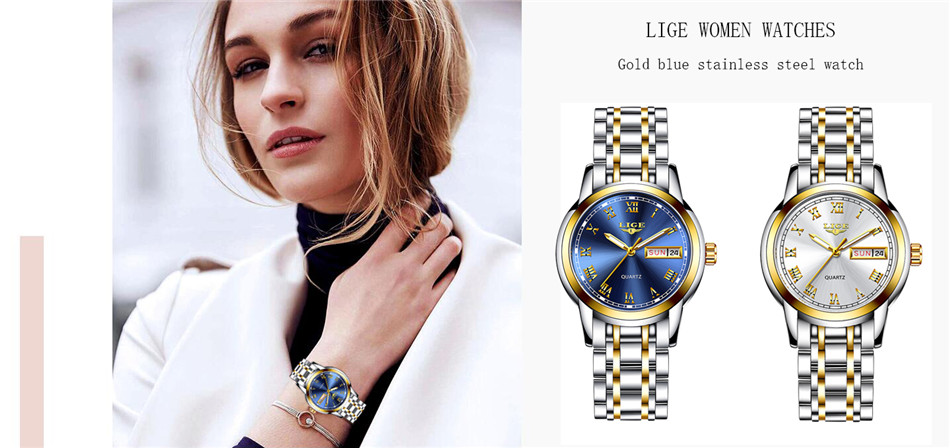 H06ba1e3127334f0484715e348a516a73F LIGE Men Watches Top Brand Luxury Stainless Steel Blue Waterproof Quartz Watch Men Fashion Chronograph Male Sport Military Watch