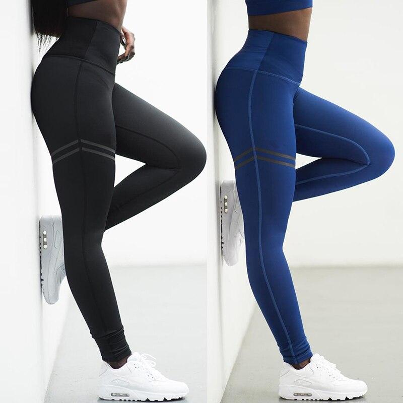 Musim Panas Latihan Legging Pinggang Tinggi Seksi Leggins Push Up Celana Legging Sport Wanita Kebugaran Gym Pakaian Hitam Merah Biru Legging Aliexpress