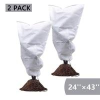 2 pacote de cobertura de plantas saco de proteção contra geada arbustos e árvores jaqueta evitar danos mau tempo e pragas espessamento do vento 24 Polegada x Capa p/ plaina     -