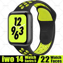 Reloj inteligente MODOSON iwo 14 Series 5 22 caras rastreador de actividad ECG Bluetooth llamada Smartwatch PK 12 13 15 para Apple iphone Android(China)
