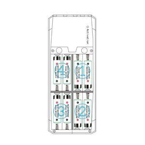 Image 2 - QD188 PD çift USB QC 3.0 + tip C PD DC çıkışı 8x18650 piller DIY güç bankası kutu tutucu kılıf cep telefonu için hızlı şarj