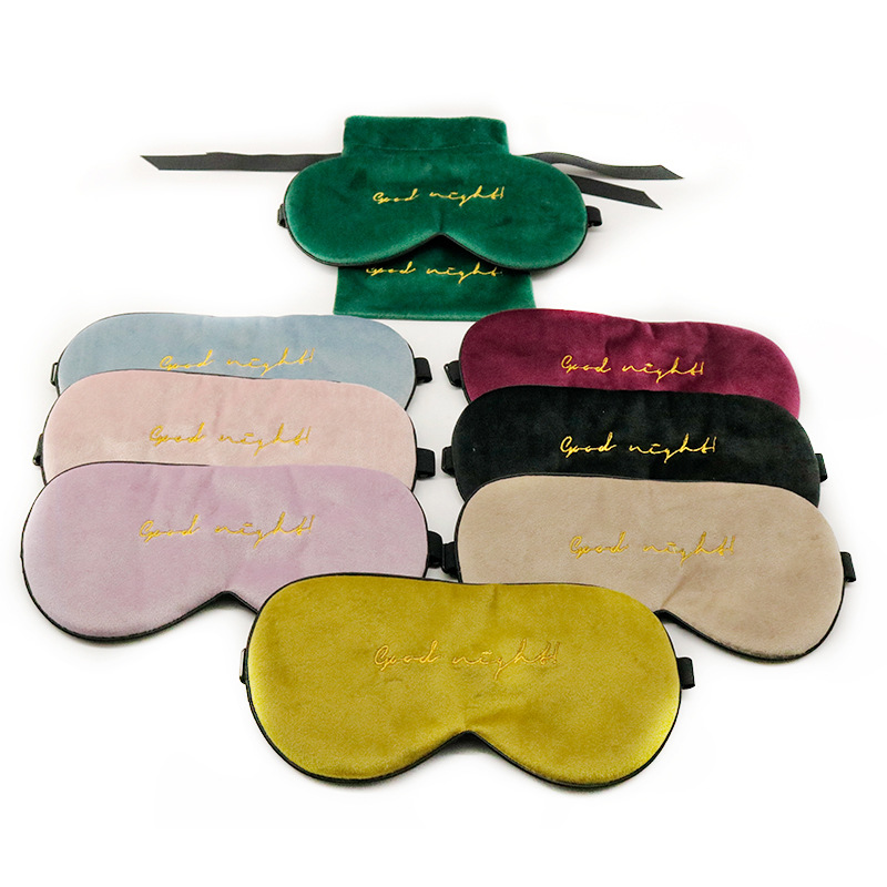 Купить 1 шт шелковая бархатная маска для сна натуральная накладка на