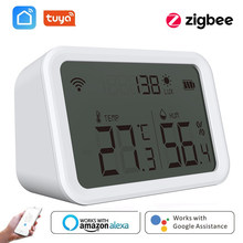Tuya Zigbee 3.0 Temperature Humidity Sensor Lux Light Detector Hygrometer Thermometer LCD Screen Work Tuya Zigbee Hub Smart Home