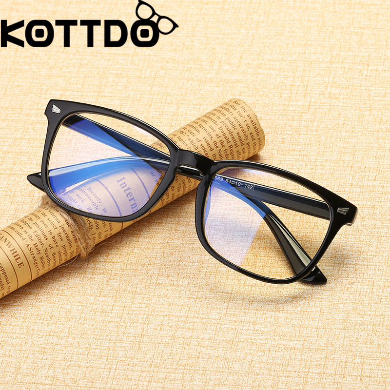 KOTTDO Classic Square EyeGlasses Frames For Women Vintage Clear Prescription Eye Glasses Frame Men Plastic