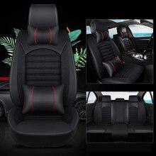 Kalaisike housses de siège de voiture universelles en cuir, en lin, pour Mitsubishi, tous les modèles pajero éblouissant ASX lancer, pajero sport outlander