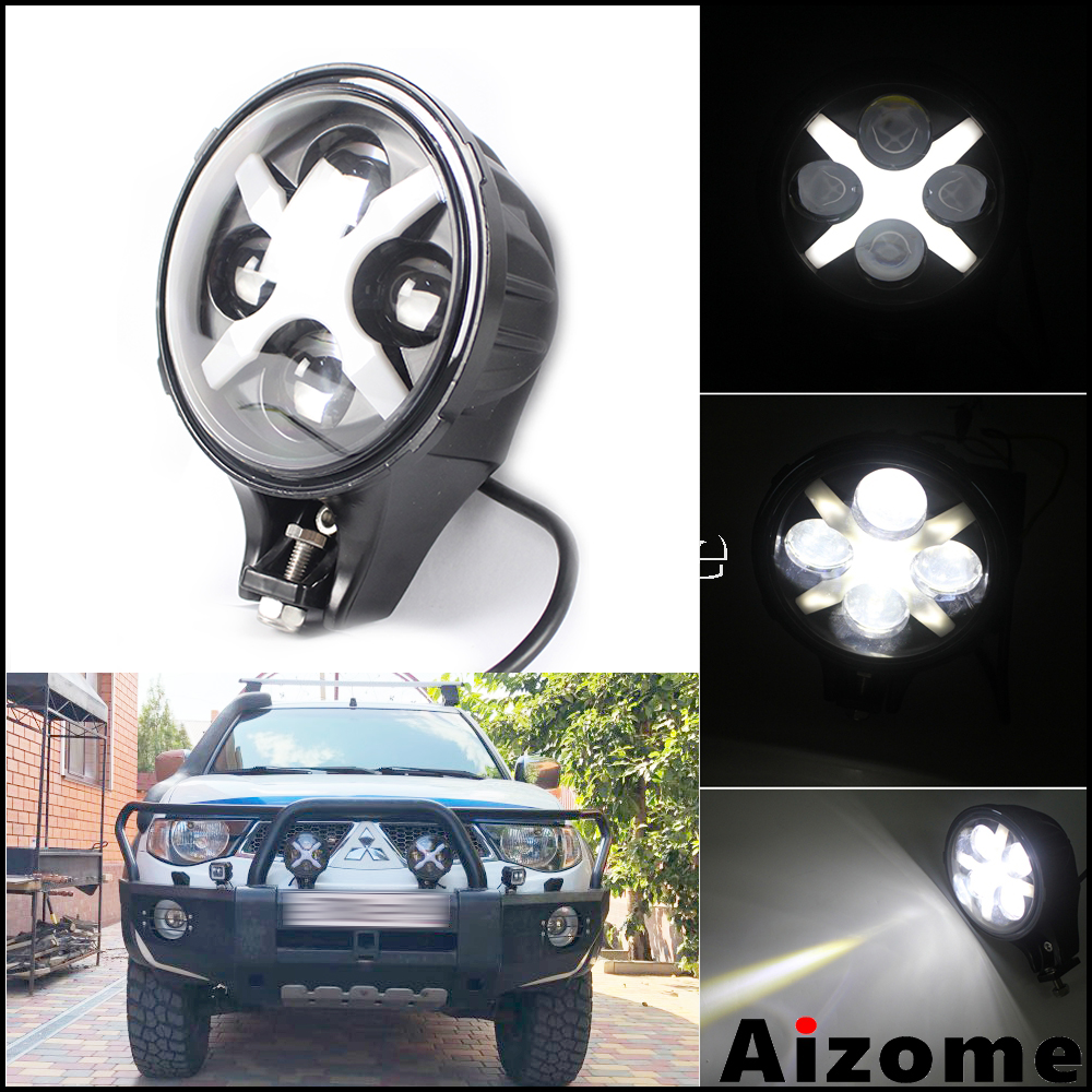 60W Faro X del Riflettore Della Luce Della Luce di Nebbia E9 Faro DRL Segnale di Girata Per Jeep Wrangler Toyota Hummer SUV ATV UTV Camion Rimorchio