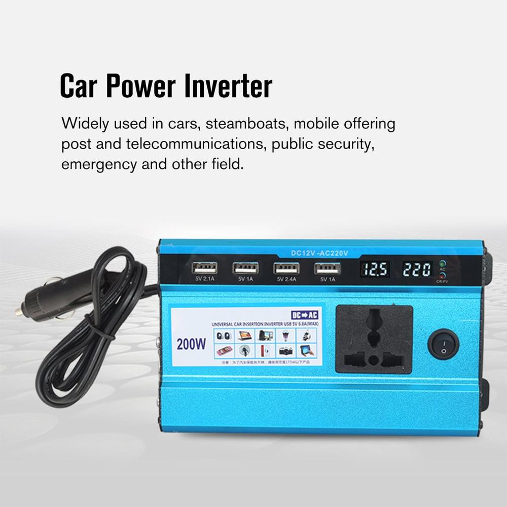 500W 12V to 220V / 24V to 220V Car Power Inverter Converter Charger Adapter USB Voltage Transformer Modified Sine Wave|Shifters| |  - title=
