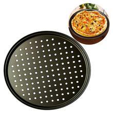 Углеродистая сталь антипригарная форма для выпечки пиццы, сетчатый поднос, форма для выпечки, инструмент для выпечки