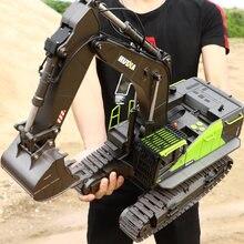 Зеленый экскаватор 22ch rc truck 1/14 игрушки с дистанционным