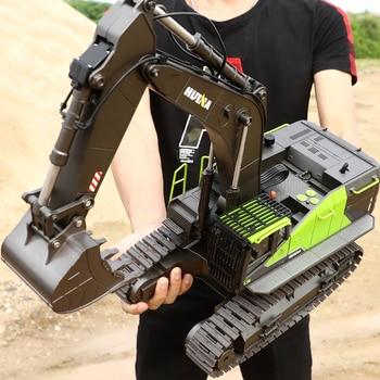 Escavadeira verde 22ch rc caminhão 1/14 brinquedos de controle remoto para meninos adultos huina 593 1593 nova chegada