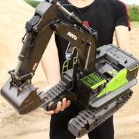 Green Excavator 22CH RC Truck 1/14 Remote Control Toys for Boys Adults HUINA 593 1593 NEW ARRIVAL
