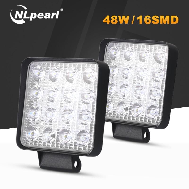 Nlpearl 4-calowy 48W 42W listwa świetlna Led/światło robocze jazdy Combo LED światło robocze dla 4x4 Offroad Trucks ATV UTV ciągnik 6000K 3000K