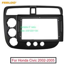 "FEELDO Auto Audio 9 ""Großen Bildschirm Fascia Rahmen Adapter Für Honda Civic 2002 2005 2DIN Dash Montage Panel rahmen Kit"