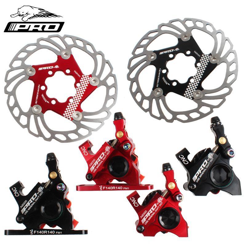 140mm Disc Brake Pads On For Bicycle MTB Road Bike Brake Line Pulling Disc Brake CNC Front Rear Bicycle Brake IIIPRO Ultralight