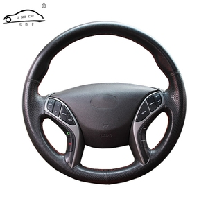 Image 1 - Artificial Leather car steering wheel braid for Hyundai Elantra 2011 2016 Avante i30 2012 2016/Custom made Steering cover