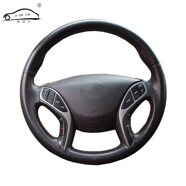Artificial Leather car steering wheel braid for Hyundai Elantra 2011 2016 Avante i30 2012 2016/Custom made Steering cover