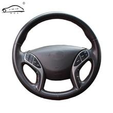 Da Nhân Tạo Lái Ô Tô Bao Da Dành Cho Hyundai Elantra 2011 2016 Avante I30 2012 2016/Tự Làm bọc Vô Lăng Da