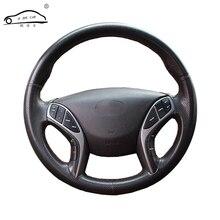 Оплетка руля из искусственной кожи для Hyundai Elantra 2011 2016 Avante i30 2012 2016/пошив на заказ