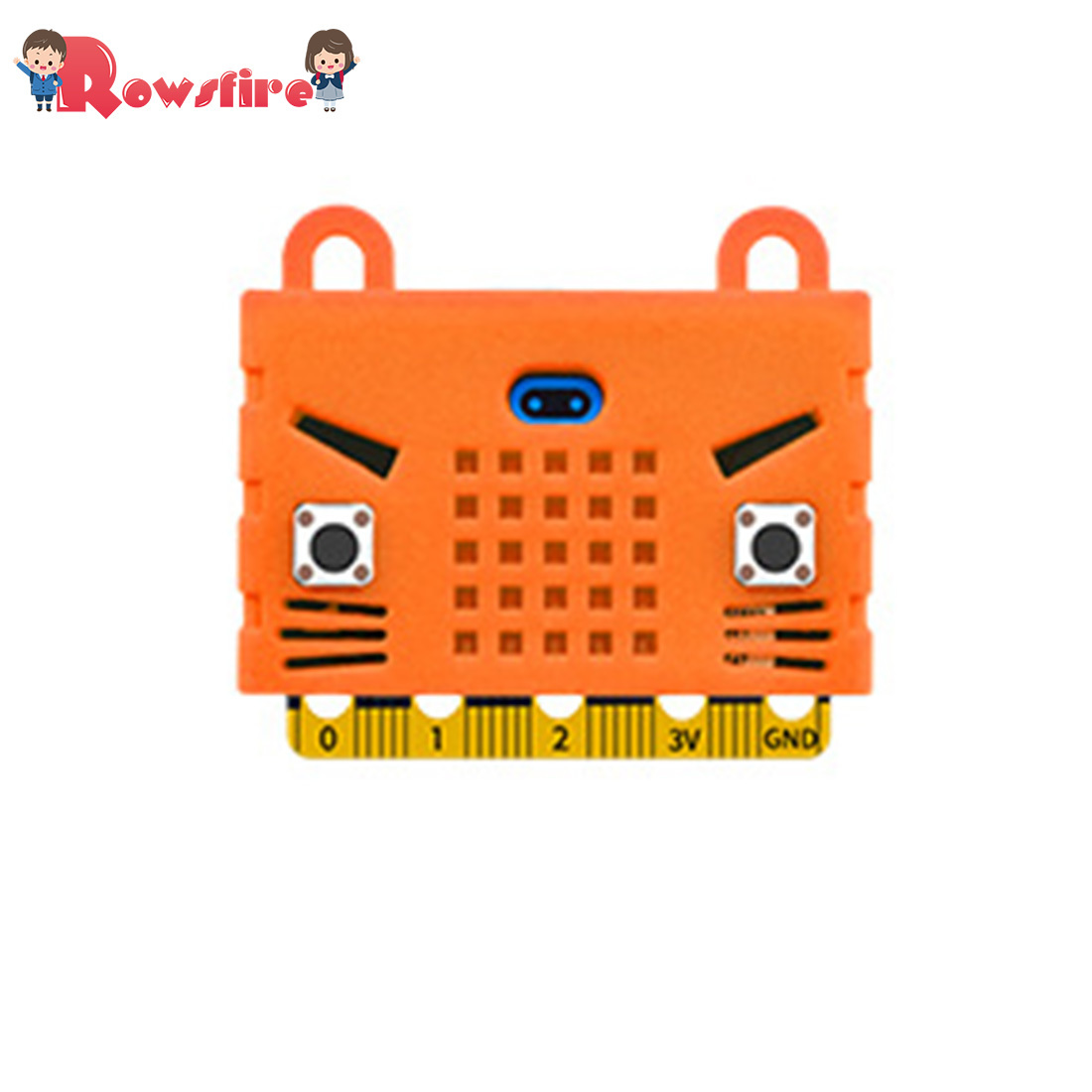 Eco-Friendly Seal/Tiger/Cat Shape Silicone Protective Enclosure Shell Cover For Micro:Bit Board Expansion Board Bue/Red/Orange