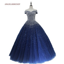Quinceanera-Dresses Party-Gowns Sweet 16 Off-Shoulder Birthday Formal ANGELSBRIDEP Floor-Length