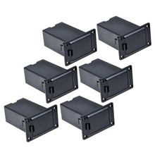 6pcs Black 9v Battery Holder/case/box Compartment Cover Case Guitar&bass Pickup(China)
