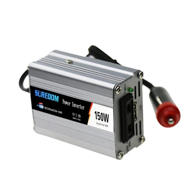 VODOOL véhicule 150W voiture onduleur solaire DC 12/24V à AC 110/220V tension onde sinusoïdale convertisseur chargeur adaptateur plus récent