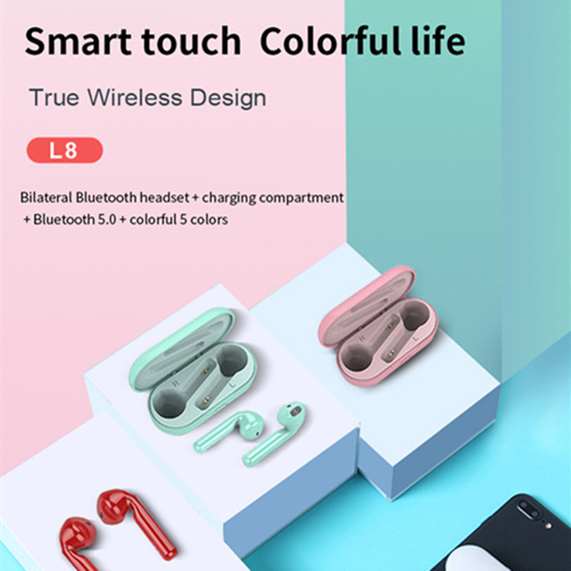 L8 tws mini fones de ouvido sem fio à prova dhd água hd mic redução ruído para xiaomi huawei iphone bluetooth