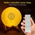 Светодиодный светильник луна лампа Беспроводной Bluetooth Коран Динамик Красочные луна светильник для Спальня украшения Коран задний фон луна ...