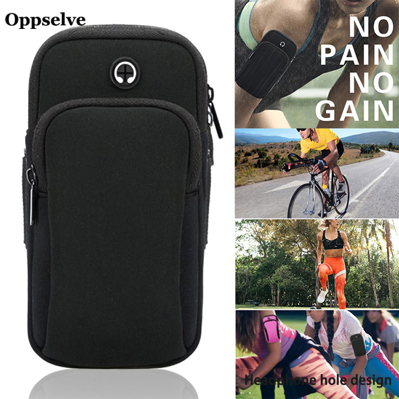 Oppselve Gym Sports Running Jogging Armband Arm Band Bag Holder Case For Cellphone Armband 4.0-6.5 inch for iPhone Huawei Xiaomi